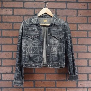CITIZENS OF HUMANITY Gray Ikat Aztec Denim Jacket